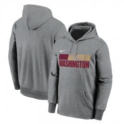 Men Washington Football Team Nike Sideline Impact Lockup Performance Pullover Hoodie Charcoal