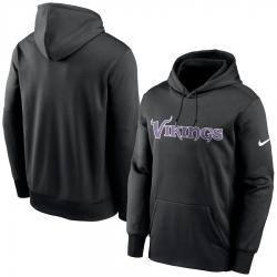 Men Minnesota Vikings Nike Fan Gear Wordmark Performance Pullover Hoodie Black