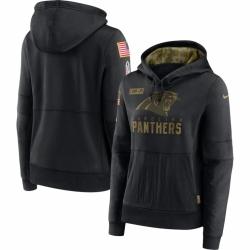 Women Carolina Florida Panthers Nike 2020 Salute to Service Performance Pullover Hoodie Black