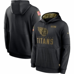Men Tennessee Titans Nike 2020 Salute to Service Sideline Performance Pullover Hoodie Black