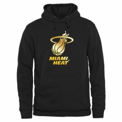 NBA Mens Miami Heat Gold Collection Pullover Hoodie Black