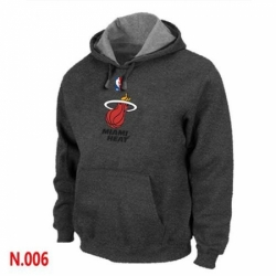 NBA Mens Miami Heat Pullover Hoodie Dark Grey