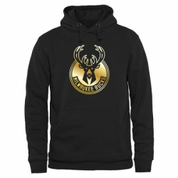 NBA Mens Milwaukee Bucks Gold Collection Pullover Hoodie Black