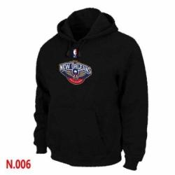 NBA Mens New Orleans Pelicans Pullover Hoodie Black
