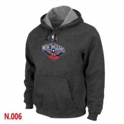 NBA Mens New Orleans Pelicans Pullover Hoodie Dark Grey