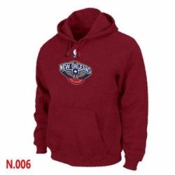 NBA Mens New Orleans Pelicans Pullover Hoodie Red