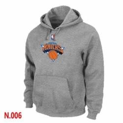 NBA Mens New York Knicks Pullover Hoodie Grey