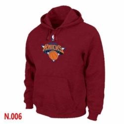 NBA Mens New York Knicks Pullover Hoodie Red