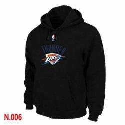 NBA Mens Oklahoma City Thunder Pullover Hoodie Black
