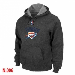 NBA Mens Oklahoma City Thunder Pullover Hoodie Dark Grey