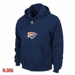 NBA Mens Oklahoma City Thunder Pullover Hoodie Navy