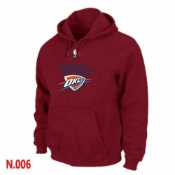 NBA Mens Oklahoma City Thunder Pullover Hoodie Red