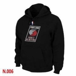 NBA Mens Portland Trail Blazers Pullover Hoodie Black