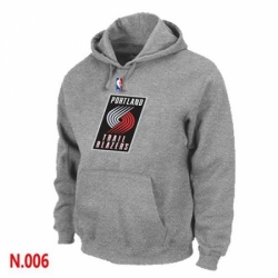 NBA Mens Portland Trail Blazers Pullover Hoodie Grey