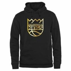 NBA Mens Sacramento Kings Gold Collection Pullover Hoodie Black