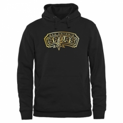 NBA Mens San Antonio Spurs Gold Collection Pullover Hoodie Black