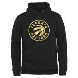 NBA Mens Toronto Raptors Gold Collection Pullover Hoodie Black