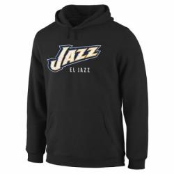 NBA Mens Utah Jazz Noches Enebea Pullover Hoodie Black