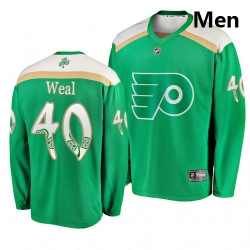 Flyers 40 Jordan Weal Green 2019 St  Patrick Day Adidas Jersey