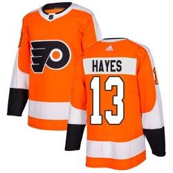 Men Philadelphia Flyers #13 Kevin Hayes Orange Home Authentic Stitched NHL Jersey