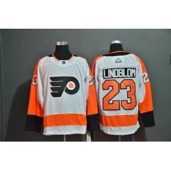 Men Philadelphia Flyers 23 Oskar Lindblom White Adidas Jersey