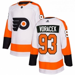 Womens Adidas Philadelphia Flyers 93 Jakub Voracek Authentic White Away NHL Jersey