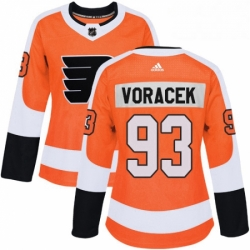 Womens Adidas Philadelphia Flyers 93 Jakub Voracek Premier Orange Home NHL Jersey