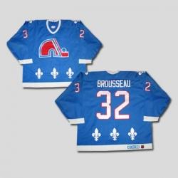Nordiques #32 Paul Brousseau Stitched CCM Throwback blue NHL Jersey