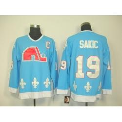 nhl quebec nordiques #19 sakic blue(ccm) C patch