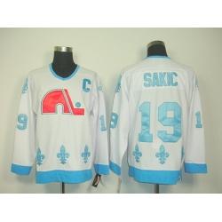 nhl quebec nordiques #19 sakic white(ccm) C patch