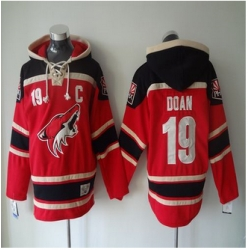 Phoenix Coyotes #19 Shane Doan Red Sawyer Hooded Sweatshirt Stitched NHL Jersey
