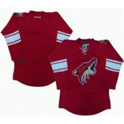 Phoenix Coyotes blank red jerseys
