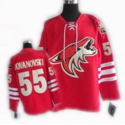 cheap Phoenix Coyotes jersey #55 JOVANOVSKI jersey red