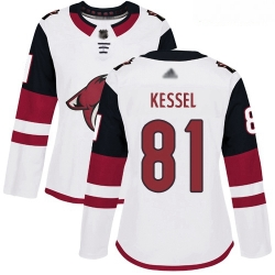 Coyotes #81 Phil Kessel White Road Authentic Women Stitched Hockey Jersey
