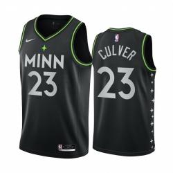 Men Nike Minnesota Timberwolves 23 Jarrett Culver Black NBA Swingman 2020 21 City Edition Jersey