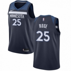 Mens Nike Minnesota Timberwolves 25 Derrick Rose Swingman Navy Blue NBA Jersey Icon Edition