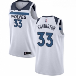 Mens Nike Minnesota Timberwolves 33 Robert Covington Swingman White NBA Jersey Association Edition