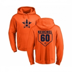 Men MLB Nike Houston Astros 60 Dallas Keuchel Orange RBI Pullover Hoodie