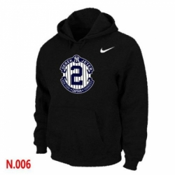 MLB Men Nike New York Yankees 2 Derek Jeter Pullover Hoodie Black