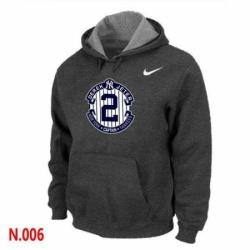 MLB Men Nike New York Yankees 2 Derek Jeter Pullover Hoodie Dark Grey