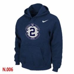MLB Men Nike New York Yankees 2 Derek Jeter Pullover Hoodie Navy