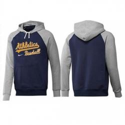MLB Men Nike Oakland Athletics Pullover Hoodie NavyGrey