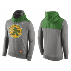 MLB Men Oakland Athletics Nike Gray Cooperstown Collection Hybrid Pullover Hoodie