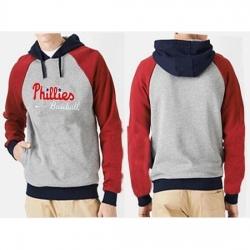 MLB Men Nike Philadelphia Phillies Pullover Hoodie GreyRed