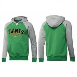 MLB Men Nike San Francisco Giants Pullover Hoodie GreenGrey