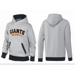 MLB Men Nike San Francisco Giants Pullover Hoodie GreyBlack