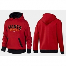 MLB Men Nike San Francisco Giants Pullover Hoodie RedBlack