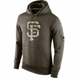 MLB Men San Francisco Giants Nike Olive Salute To Service KO Performance Hoodie