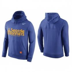 MLB Men Seattle Mariners Nike Blue Hybrid Hoodie