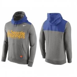 MLB Men Seattle Mariners Nike Gray Hybrid Hoodie